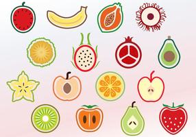 Vecteurs de fruits en tranches