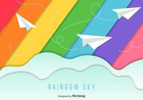 Paper Planes Sky Background vector