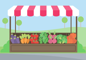 Vettore libero del mercato delle verdure