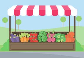 Vector de Mercado de Legumes Grátis