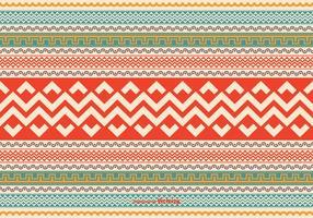 Colorido estilo azteca patrón de vectores de fondo