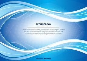Fundo abstrato do vetor Technology azul