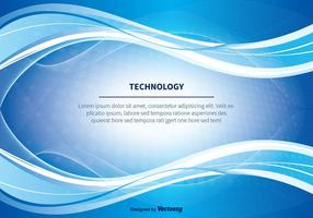 Blå Sammanfattning Technlogy Vektor Bakgrund