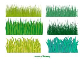 Coleção grande do vetor da grama verde