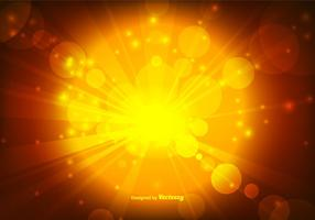 Warm Gold Bokeh Vector Background Background