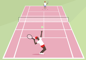 Gratis Tennis Court Vector