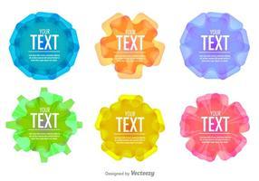 Plantillas geométricas del marco del texto