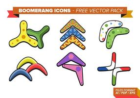 Boomerang Icons Free Vector Pack