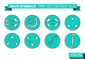 Math Symboler Gratis Vector Pack Vol. 4