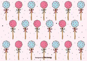 Cake Pops Pattern Background