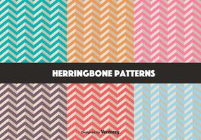 Vector Set Of Retro Herringbone Pattern