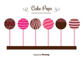 Vetores de pops de bolo