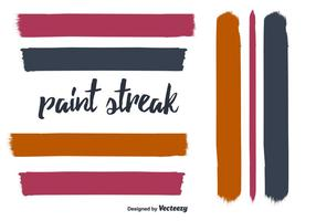 Hand Drawn Paint Streak Vector