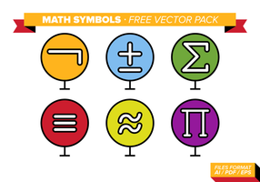 Math Symboler Gratis Vector Pack