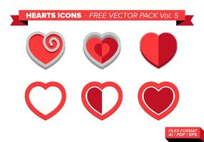 Heart Icons Free Vector Pack Vol. 5