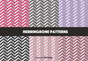 Pastel Herringbone Patrón Vectores
