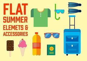 Freie flache Sommer-Vektor-Elemente