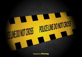 Polizei-Linie Vektor Hintergrund