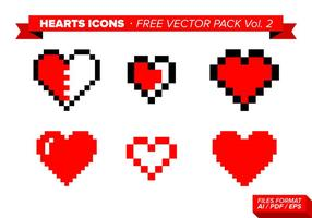 Heart Icons Free Vector Pack Vol. 2