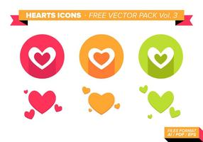 Heart Icons Free Vector Pack Vol. 3