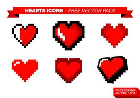 Heart Icons Free Vector Pack