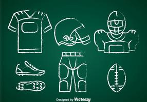 Football Kit Chalk Draw Set Vector
