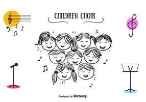 Gratis Barn Choir Vector