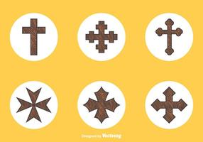 Vector libre de madera de las cruces