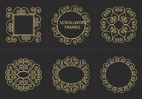 Free Scrollwork Frames Vector