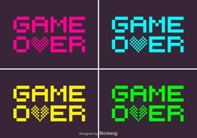 Pixel Game Over Vector