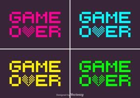 Juego de píxeles gratis sobre el vector
