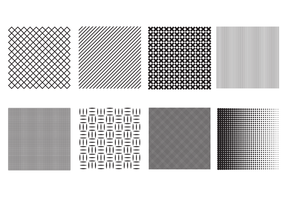 Free Crosshatch and Halftone Brush Vector