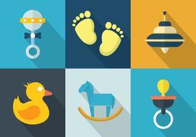 Conjunto de vetores de brinquedos para bebês