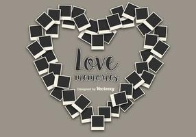 Corazón Instantánea Foto Vectores