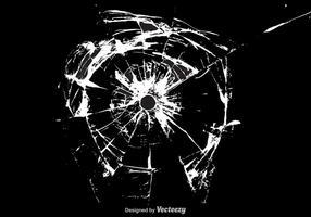 Gratis Cracked Glass Vector Bakgrund