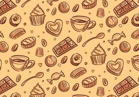 Chocolade Candy Patroon Vector