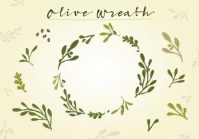 Gratis Olive Wreath Vector