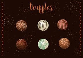 Runde Schokolade Trüffeln