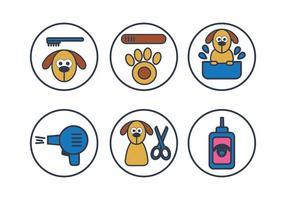 Vecteur de lavage de chien