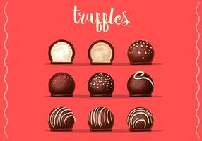 Chocolate Truffles Vectors