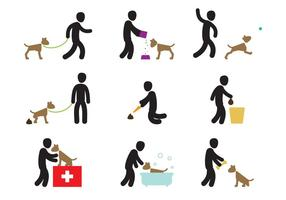 Dog Care Actions vector