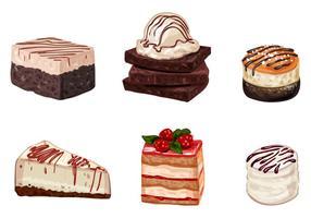 Vectores de pastel y postre