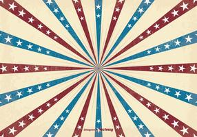 Retro Patriotic Sunburst Vector Background