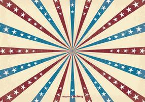 Retro Patriotic Sunburst Vector Background
