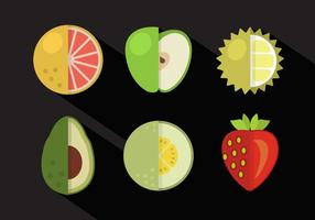 Collection vectorielle de fruits