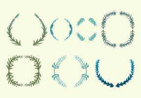 Olive Wreath Vector Pack