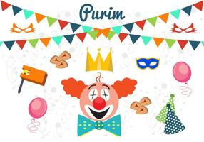Vector Illustration of Purim