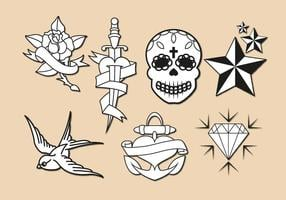Oude School Tattoo Vector