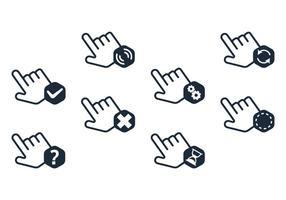 Conjunto de vectores de clic de ratón de mano