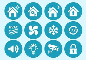 Home Automation und Sicherheit Interface Icons